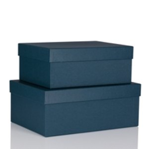 S.O.H.O. Aufbewahrungs-/Geschenkbox, div. Größen, navy, 2er Set, 1349452900