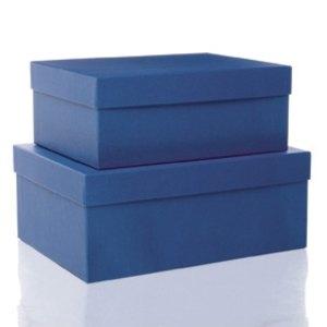 S.O.H.O. Aufbewahrungs-/Geschenkbox, div. Größen, blau, 2er Set, 1349452960