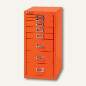 Bisley Schubladenschrank DIN A4, 8 versch. Schubgrößen, orange, L298-603