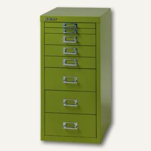 Bisley Schubladenschrank DIN A4, 8 versch. Schubgrößen, grün, L298-604