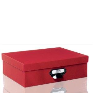 Rössler S.O.H.O. Aufbewahrungsbox mit Griff, rot, 2er Pack, 1343452360