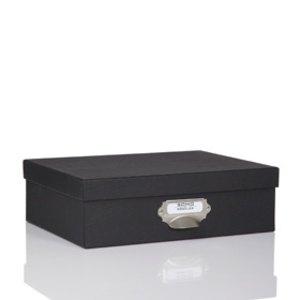 Rössler S.O.H.O. Aufbewahrungsbox mit Griff, schwarz, 2er Pack, 1343452700