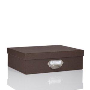 Rössler S.O.H.O. Aufbewahrungsbox mit Griff, espresso, 2er Pack, 1343452870