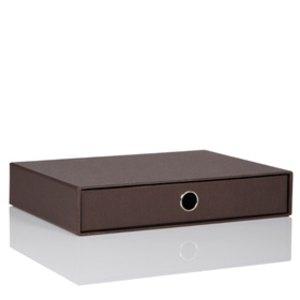 Rössler S.O.H.O. Schubladenbox A4, espresso, 3er Pack, 1524452870