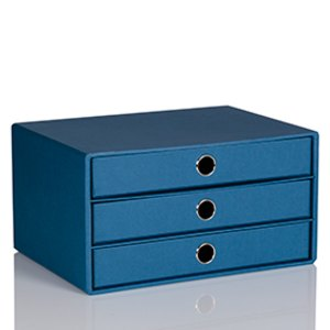 Rössler S.O.H.O. 3er Schubladenbox DIN A4, blau, 1524452963
