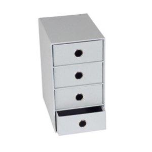 Rössler S.O.H.O. 4er Schubladenbox DIN A5, stone, 2er Pack, 1524452174