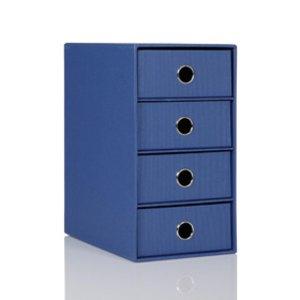 Rössler S.O.H.O. 4er Schubladenbox DIN A5, blau, 2er Pack, 1524452964