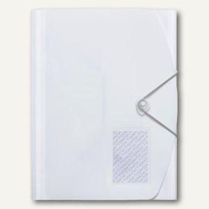 FolderSys Eckspannersammelmappe JUMBO, DIN A4, Tasche, weiß, 40St., 10028-10