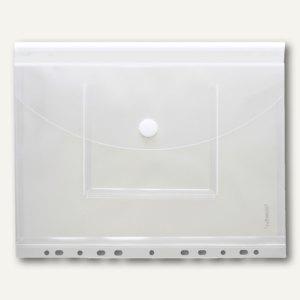 Umschlag, A4 hoch, CD Tasche mit Dehnfalte, transparent, abheftbar, 40139-04