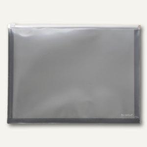FolderSys Gleitverschluss-Tasche, DIN A3, PP, anthrazit, 20 Stück, 40426-34