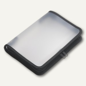 FolderSys Konferenzmappe transparent, B4, Folie matt, schwarz, 10 Stück,40451-30