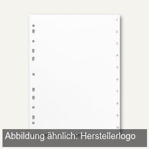 """officio Zahlenregister, """"1-10"""", DIN A4, Kunststoff, weiß"""