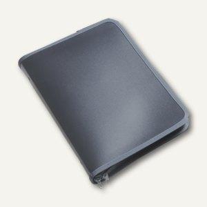 Konferenzmappe Reißverschluss, PP, DIN B5, 30 mm Rücken, transparent-grau, 2 Stü