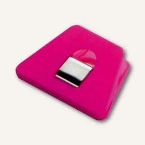 Briefklemmer SIGNAL 2, 70 x 50 mm, 13 mm Klemmweite, pink, 10er Pack, 1121-40