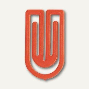 Laurel Kunststoff-Büroklammern King Klips, 75 mm, hellrot, 100 Stück, 1350-15