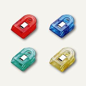 Briefklemmer LILIPUT, 15x25mm, Klemmweite: 7mm, Kristallfarben sortiert, 40 St,