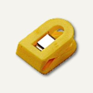 Laurel Briefklemmer LILIPUT, 15x25mm, Klemmweite: 7mm, gelb, 100St, 1100-70