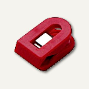 Laurel Briefklemmer LILIPUT, 15x25mm, Klemmweite: 7mm, rot, 100St, 1100-20