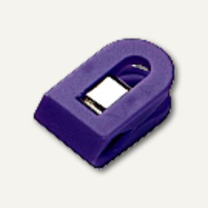 Laurel Briefklemmer LILIPUT, 15x25mm, Klemmweite: 7mm, violett, 100St, 1100-18