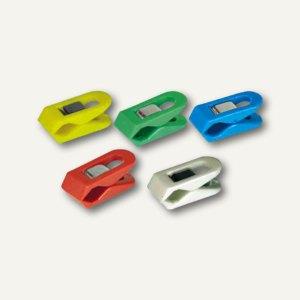 Laurel Briefklemmer PEGY, 10 x 25 mm, farbig sortiert, 20er Pack, 1009-95