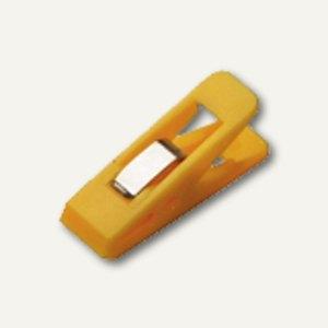 Laurel Briefklemmer TAIFUN, 15 x 50 mm, Klemmweite: 13 mm, gelb, 100 St.,1900-70