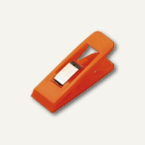 Briefklemmer TAIFUN, 15 x 50 mm, Klemmweite: 13 mm, orange, 100 St., 1900-50
