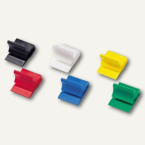 Kunststoff-Briefklemmer Zacko 3, 15 x 22 mm, farbig sortiert, 1.000 Stück, 2871-