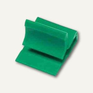 Laurel Kunststoff-Briefklemmer Zacko 1, 11 x 14 mm, grün, 1.000 Stück, 2841-60