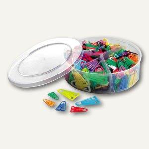 Büroklammern Kunststoff-Clips TRIO