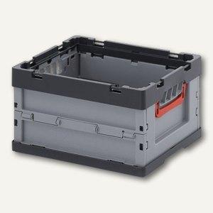 officio Klappbox 17 Liter, 400 x 300 x 220 mm, silbergrau, 454322FB