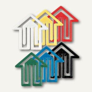 """Kunststoff-Büroklammern """"Pfeil"""", dreieckig, 30 mm, farbig sortiert, 100 Stück, 1"""