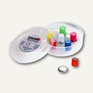 Neodym-Magnet mit Metallscheibe, Ø14 mm, 1900g, kristallfarbig sortiert, 6 St