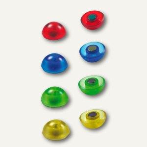 Neodym-Haftmagnet Maxi, Ø30 mm, Haftkraft 1900g, farbig sortiert, 8er Pack