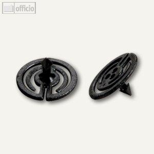 Laurel Steckklammer PIN-ZACK, 20 mm, schwarz, 200 Stück, 3105-11