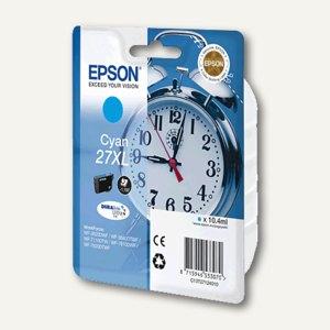 Epson Tintenpatrone Nr. 27XL, 10.4 ml, cyan, C13T27124010