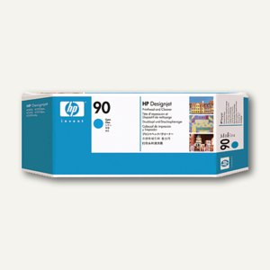 HP Druckkopf und Druckkopfreiniger, Nr. 90, 400 ml, cyan, C5055A