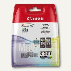 Canon Druckkopfpatronen farbig und schwarz, Multipack, CL511 + PG-510, 2970B010