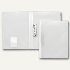 FolderSys Klemmhebel-Mappe, DIN A4, Füllhöhe 15 mm, transparent, 20 St.,13021-04