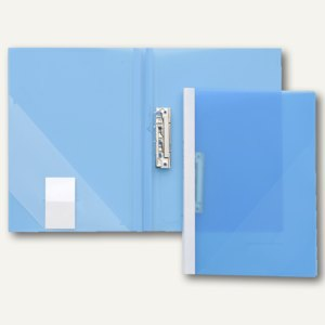 FolderSys Klemmhebel-Mappe, DIN A4, Füllhöhe 15 cm, blau, 20 St., 13021-44