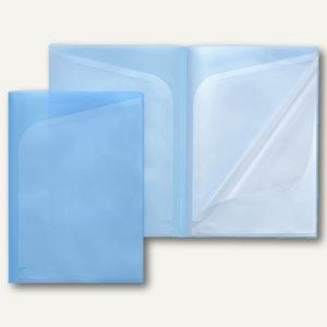 FolderSys Quickload Sichttaschen-Buch A4, 6 Taschen, blau, 20 St., 25041-44