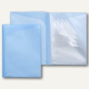 FolderSys Quickload Sichttaschen-Buch A4, 14 Taschen, blau, 10St., 25043-44