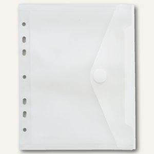 FolderSys Sichttasche, DIN A5, Klettverschluss, 225 x 180 mm, 50 Stück, 40156-04