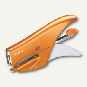 LEITZ Heftzange WOW, Heftleistung: 15 Blatt, metallic-orange, 5531-20-44