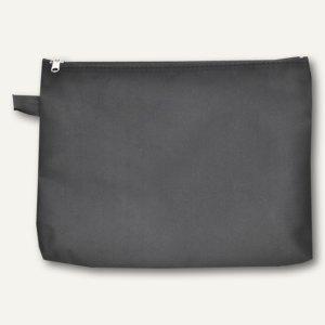 FolderSys Banktasche A5, Fingerschlaufe, Reißverschluss, schwarz, 10St.,40407-30