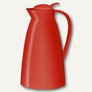 Alfi Thermoskanne Eco, Inhalt 1 Liter, Einhand-Ausgießtaste, feuerrot, 825037100