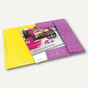 LEITZ Eckspannermappe Retro Chic, DIN A4, PP, violett, 4515-00-65