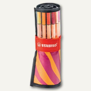 STABILO point 88, 25er BE WILD! Rollerset, orange/ beere, 8825-052