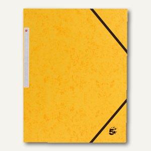 officio Eckspannmappe, 450 g, B 240 x H 320 mm, Füllhöhe 15 mm, gelb, 922927