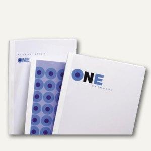 GBC Thermobindemappe DIN A4, Rücken 1.5 mm, weiß-glänzend, 100 Stück, TC080070
