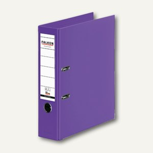 Falken Ordner, DIN A4, PP, Rücken 80 mm, Wechselfenster, violett, 11285608